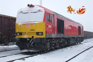 image: UK Christmas rail intermodal logistics freight DB Schenker