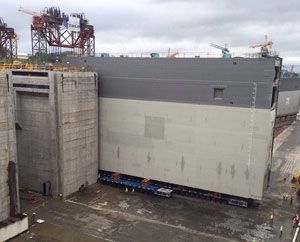 image: Panama Canal Gates Ocean Freight containerised break bulk project shipments