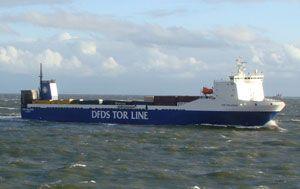 image: Belgium RoRo rail freight ferry cargo intermodal trailers