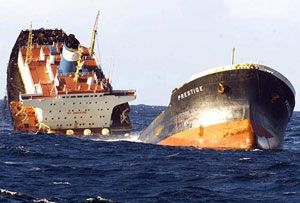 image: Europe oil tanker shipping cargo sea shipwreck European Court of Human Rights