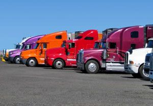 image: US freight trucks motor carrier