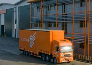 image: UK road haulage freight PalletForce pallet distribution network