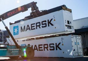 image: Chile Maersk reefer container shipping line refrigerated CMA CGM MCI ISO 40 foot