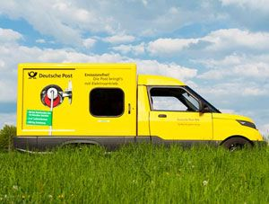 image: Germany Bonn electric vehicle DHL express freight home shopping mail post