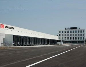 image: Belgian logistics terminal environmentally friendly freight forwarding solar panel recycling shippers DB Schenker