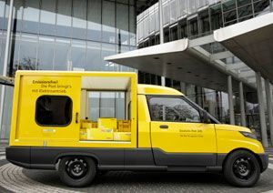 image: StreetScooter freight logistics electric van antitrust DHL postal
