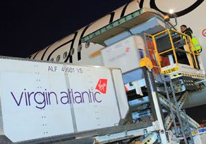 image: UK Dubai Virgin Atlantic cargo air freight