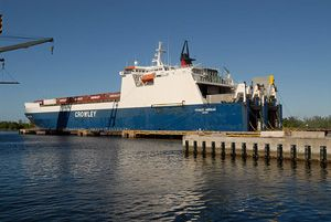 image: Caribbean US RoRo Break Bulk Project Cargo Service port consolidation freight container