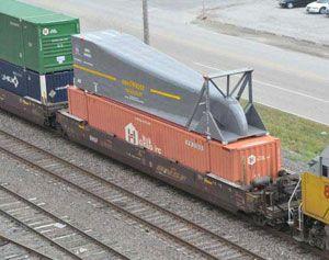 image: China Australia US road haulage rail freight aerodynamic green credentials environmental wagon