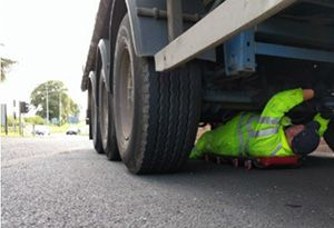 image: UK road haulage drivers hours on the spot fines DVSA offences