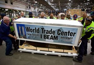 image: New York Florida 9/11 World Trade Centre Picasso metal beam consignment American Airlines shipment