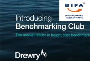 image: UK, BIFA, freight, forwarder, benchmarking, rates, Drewry,