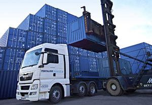image: Pentalver Forth Port container freight road haulage box logistics Tilbury shipping