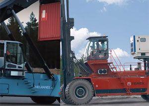 image: Finland US Konecranes Terex port container cranes fork lift truck freight materials handling tax