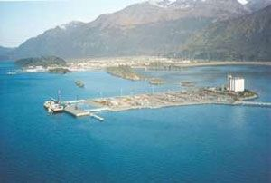 image: US Alaska container shipping export services hurricane Valdez