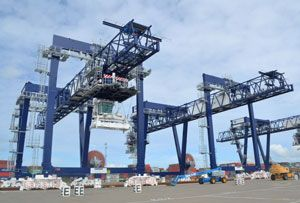 image: Felixstowe London Gateway rail freight intermodal container cargo port box terminal