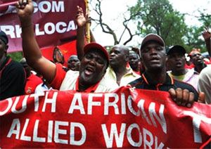 image: South Africa freight forwarding truck logistics tonnes cargo shipping strike