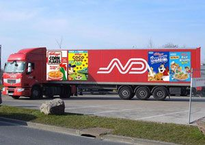 image: Kellogg�s Norbert Dentressangle freight logistics partnership road haulage deal supply chain