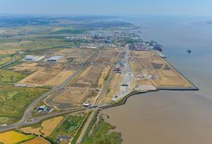 image: Pentalver London Gateway container handling deep water port logistics storage box facility