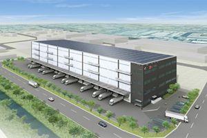 image: DB Schenker freight group logistics centre Tokyo cargo warehouse