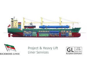 image: Germany Heavy Lift freight and Break Bulk Shipping Line Rickmers-Linie project cargo