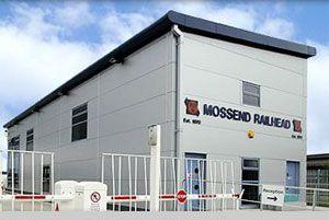 image: Scotland UK intermodal freight rail cargo terminal Mossend Bellshill