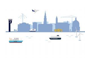 image: Denmark Maersk, DSV, sustainable fuel, Hydrogen, maritime, vessels, DFDS, SAS, greener,