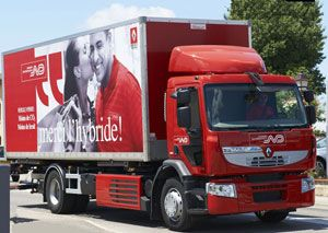 image: UK LPG Diesel dual fuel road haulage logistics Norbert Dentressangle