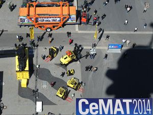 image: CeMAT 2014 intralogistics freight ports retail transport logistics Hannover warehousing expo