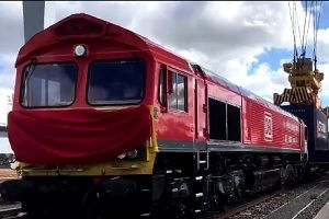 image: UK China freight forwarding agent container cargo rail service London Gateway