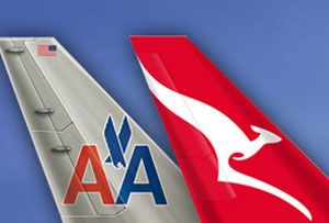 image: US Australia air freight alliance Qantas American Airlines