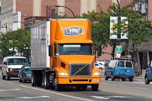 image: YRC trucking LTL truck load Arrow Carlen Greatwide haulier drayage Teamsters