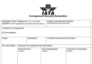 image: US IATA sir freight cargo messaging standard Customs and Border Protection Agency US-CBP
