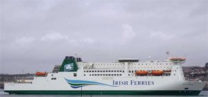 image: Ireland UK ferries freight shipping articulated trucks
