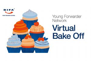 image: UK BIFA international young freight forwarders network Bake Off Covod-19 Zoom platform