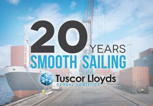 image: UK project freight forwarding Tuscor Lloyd's logistics anniversary
