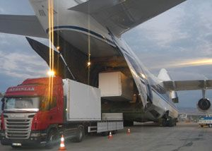 image: Turkey Ruslan Air freight partner shipping shipped 20 foot container ISO