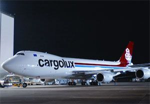 image: US Boeing Cargolux freight carrier cargo aircraft freighter