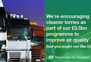 image: UK road haulage HGV Levy poor air quality operators older trucks NOx freight