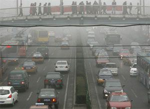 image: California truck smog emission