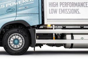 image: Volvo gas powered truck emissions