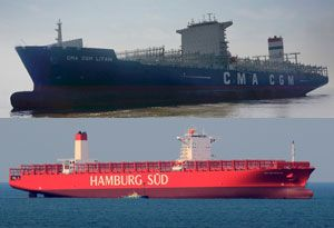 image: CMA CGM Hamburg S�d freight container shipping lines