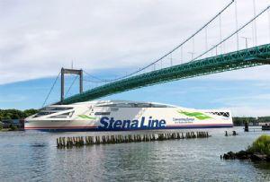 image: Sweden, Denmark, Stena, line, ferry, hybrid, electric power, vessel, green, battery,