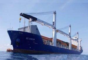 image: Europe road haulage Empros shipping line break bulk freight maritime tradition De Keyser Thornton (DKT) tonne crane general cargo