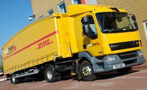 image: UK teardrop trailers freight logistics haulier haulage DHL Tradeteam