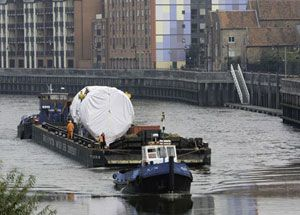 image: Wakefield UK cargo freight transport Associated British Ports modal shift water