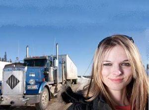 image: UK female shortlist logistics freight transport shipping supply chain ice road trucker
