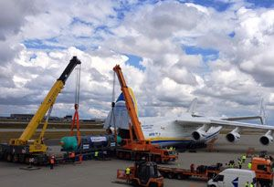 image: AN-225 Antonov air freight export consignment kilogrammes tonnes Buran space shuttle