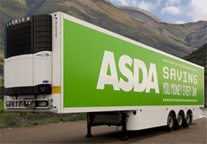 image: UK reefer dry freight shipping trailer refrigerated