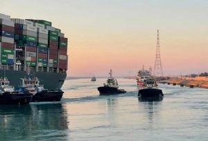 image: Egypt, Ever Given, container, ship, Suez, Canal, blocked, tug, Stann, Evergreen,